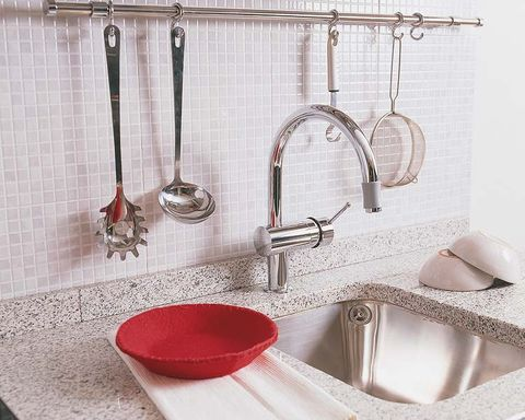Plumbing fixture, Bathroom sink, Tap, Room, Wall, Sink, Bathroom accessory, Tile, Plumbing, Bathroom,