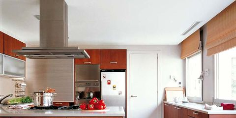 Room, Wood, Interior design, Cupboard, White, Floor, Furniture, Cabinetry, Kitchen, Countertop,