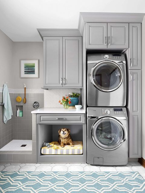 Laundry room, Washing machine, Major appliance, Room, Laundry, Home appliance, Clothes dryer, Furniture, Cabinetry, Small appliance,
