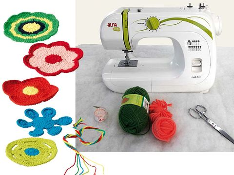 Product, Green, Textile, Cable, Sewing machine, Pattern, Household appliance accessory, Circle, Home appliance, Creative arts,