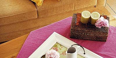 Serveware, Dishware, Textile, Tablecloth, Drinkware, Cup, Linens, Tableware, Coffee cup, Purple,