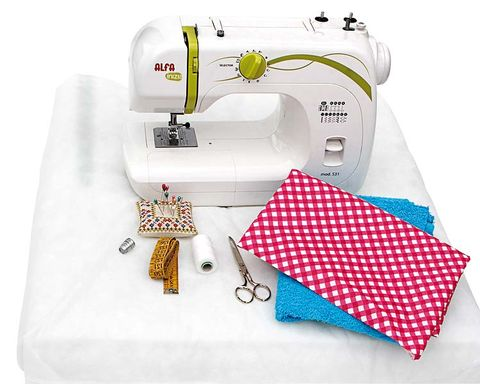 Product, Sewing machine, White, Line, Household appliance accessory, Machine, Design, Home appliance, Label, Sewing,