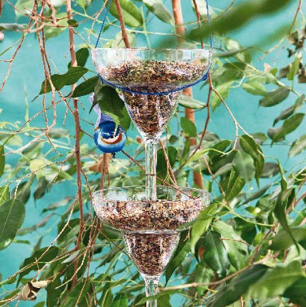 comedero para pájaros diy
