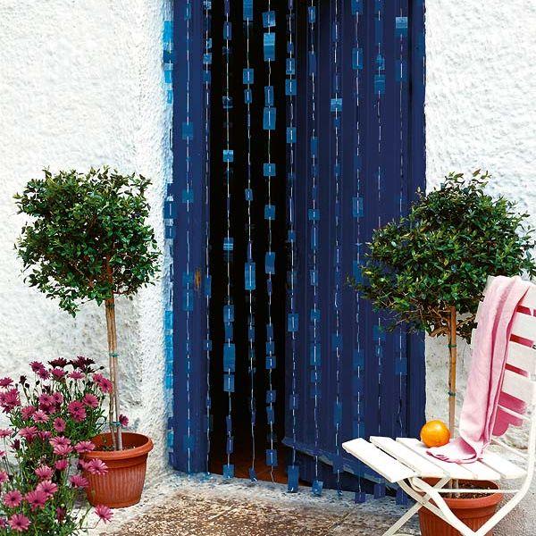 manualidades una cortina para la puerta