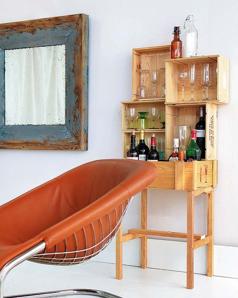 Wood, Brown, Interior design, Shelving, Bottle, Hardwood, Tan, Home, Interior design, Rectangle,
