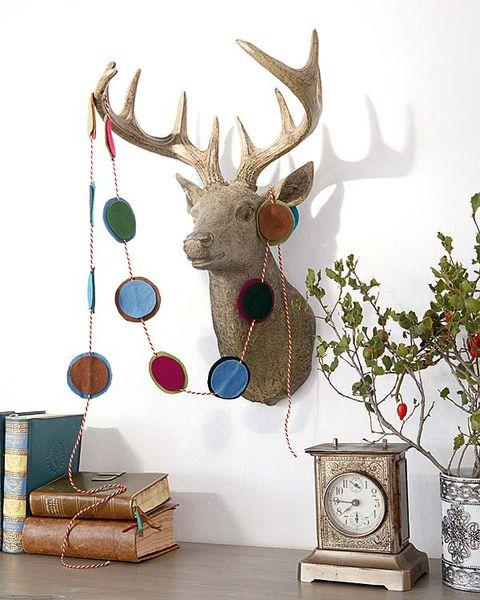 Deer, Antler, Reindeer, Horn, Natural material, Interior design, Elk, Home accessories, Fawn, Twig,