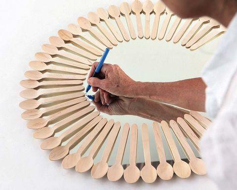 Bird, Paper, Peach, Nail, Craft, Paper product, Natural material, Creative arts,