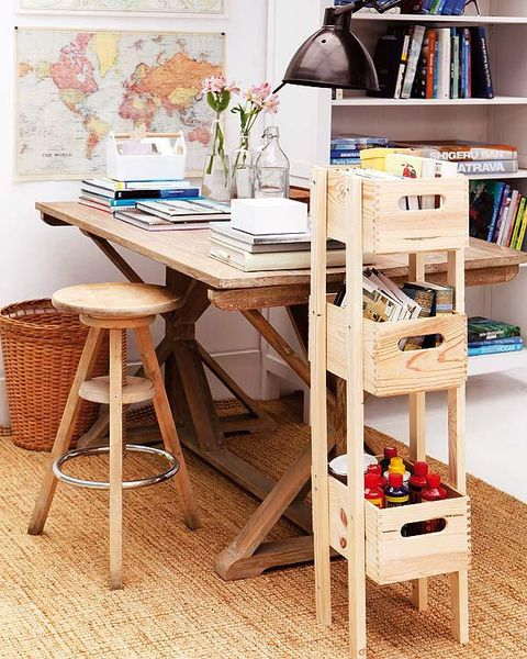 Wood, Room, Furniture, Interior design, Table, Shelf, Shelving, Interior design, Stool, Publication,