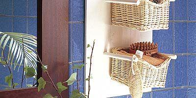Glass, Basket, Flowerpot, Wicker, Interior design, Houseplant, Home accessories, Storage basket, Tile, Transparent material,