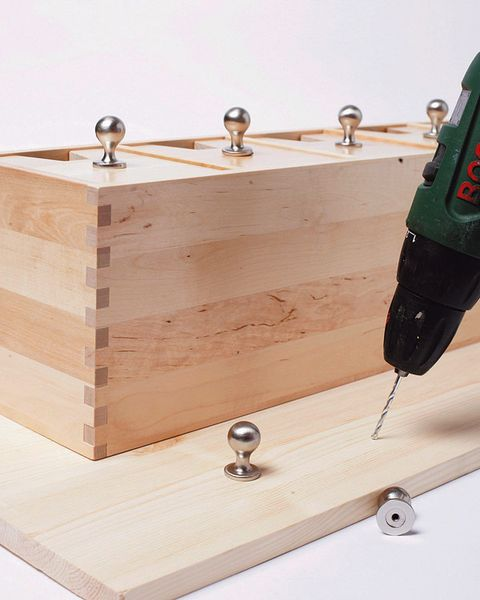 Wood, Hardwood, Drill, Handheld power drill, Rotary tool, Sideboard, Drill accessories, Drawer, Wood stain, Natural material,