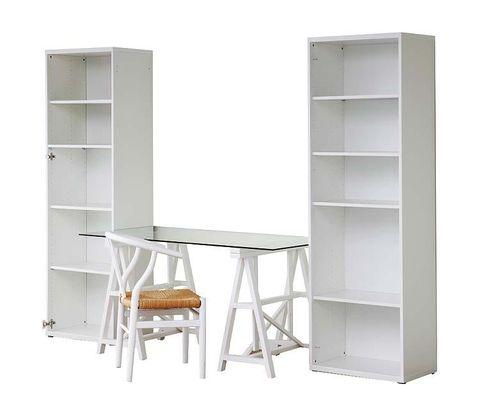 Shelving, Room, Furniture, Shelf, Rectangle, Plywood, Parallel, Cabinetry, Writing desk, Desk,