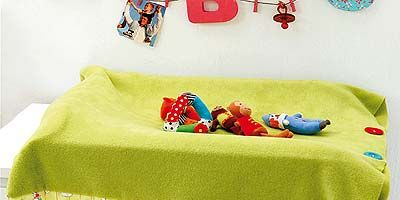 Blue, Product, Yellow, Textile, Linens, Room, Bedding, Toy, Bed sheet, Bedroom,