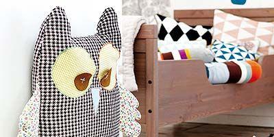 Textile, Room, Table, Interior design, Pattern, Bird of prey, Grey, Creative arts, Design, Great horned owl,