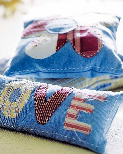 Blue, Textile, Electric blue, Carmine, Pattern, Cushion, Stitch, Undergarment,
