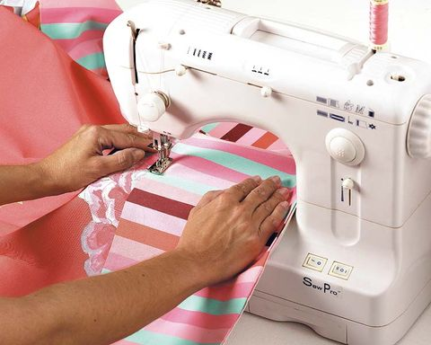 Sewing machine, Textile, Hand, Photograph, Sewing, Pink, Machine, Home appliance, Sewing machine feet, Nail,
