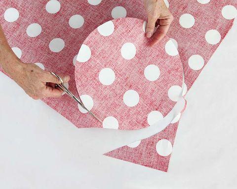 Pattern, Pink, Polka dot, Peach, Design, Nail, Pattern, Paper, Paper product, Creative arts,