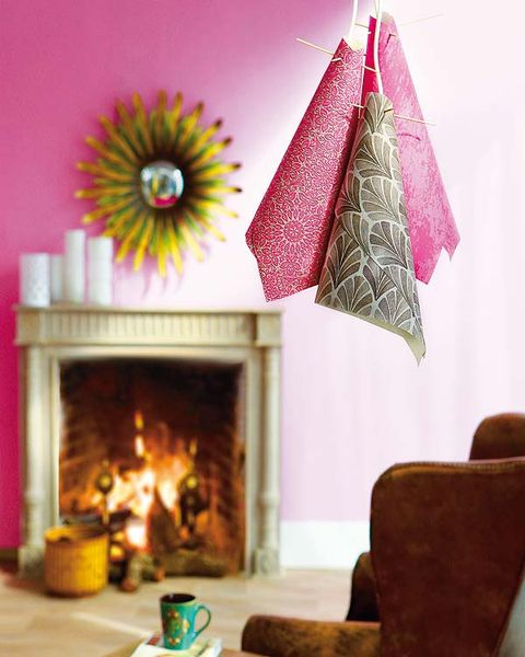 Hearth, Room, Interior design, Fireplace, Heat, Purple, Magenta, Fire, Interior design, Flame,