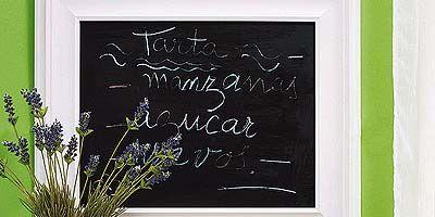Green, Blackboard, Wall, Serveware, Lavender, Chalk, Handwriting, Twig, Dishware, Still life photography,