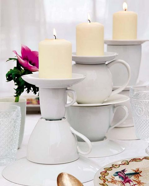 Serveware, Dishware, Coffee cup, White, Drinkware, Porcelain, Cup, Candle, Petal, Ceramic,