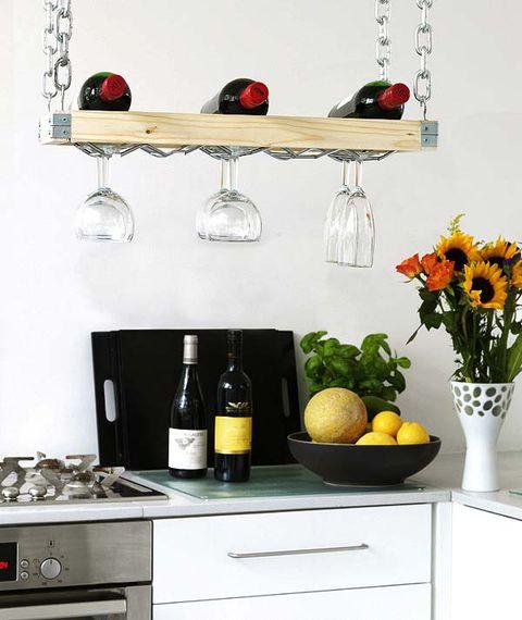 Crea un sencillo botellero de madera - Botellero de madera para vino ...