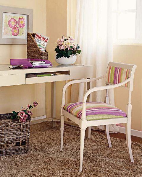 Room, Interior design, Furniture, Floor, Flooring, Interior design, Home, Chair, Picture frame, Peach,