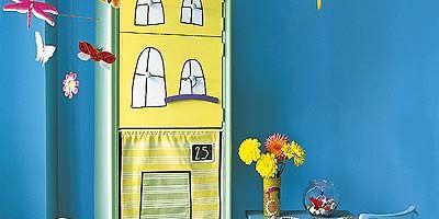 Blue, Room, Interior design, Wall, Majorelle blue, Art, Paint, Turquoise, Illustration, Door,