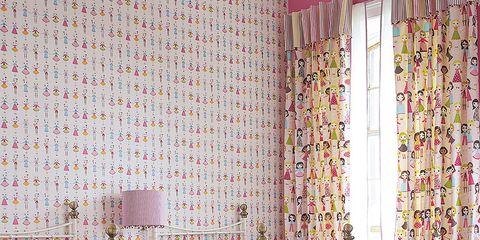 Room, Interior design, Textile, Wall, Purple, Pink, Linens, Furniture, Interior design, Floor,