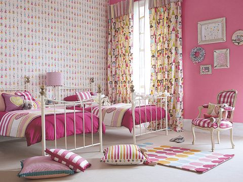 Room, Interior design, Floor, Flooring, Textile, Furniture, Pink, Interior design, Purple, Home,