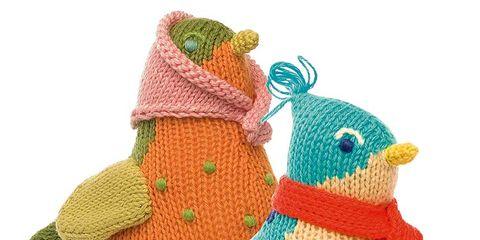 Toy, Art, Creative arts, Craft, Beak, Baby toys, Plush, Knitting, Crochet, Knit cap,
