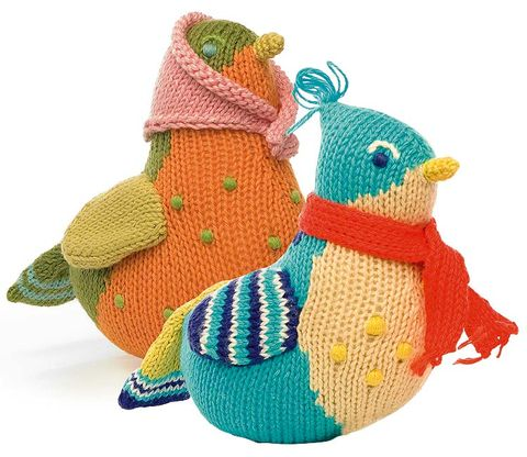 Toy, Art, Creative arts, Craft, Beak, Baby toys, Plush, Knitting, Crochet, Knit cap,