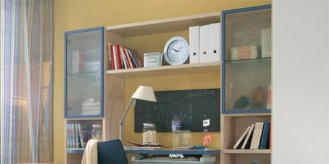 Blue, Room, Interior design, Wood, Shelf, Textile, Shelving, Wall, Floor, Flooring,