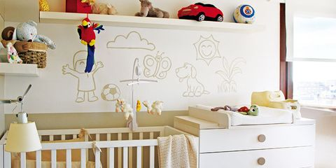 Wood, Product, Room, Yellow, Baby toys, Infant bed, Chest of drawers, Baby Products, Interior design, Drawer,