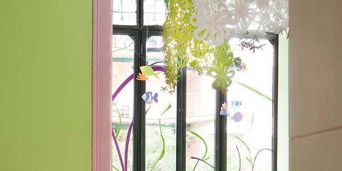 Furniture, Interior design, Flowerpot, Chair, Fixture, Purple, Houseplant, Outdoor furniture, Armrest, Paint,