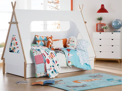 Furniture, Bed, Room, Product, Bedding, Bed sheet, Bedroom, Turquoise, Interior design, Textile,