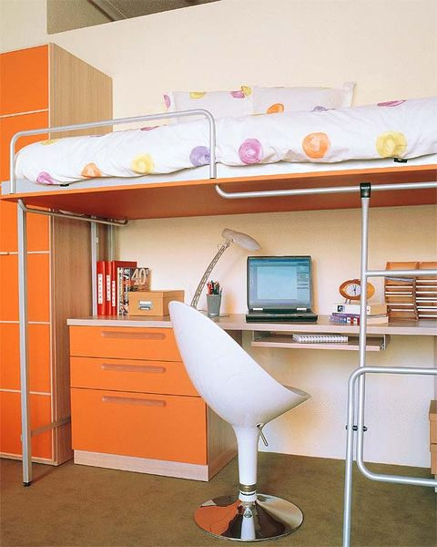 Room, Interior design, Wall, Shelving, Display device, Shelf, Orange, Interior design, Flat panel display, Plywood,