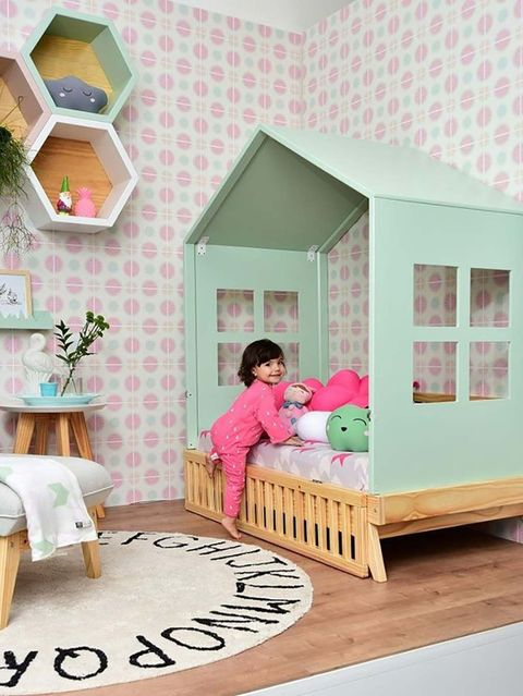 Pink, Dollhouse, Room, House, Product, Furniture, Home, Toy, Interior design, Nursery,