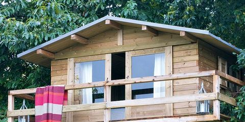 Wood, Property, Real estate, Lumber, Log cabin, Outdoor structure, Tree house,