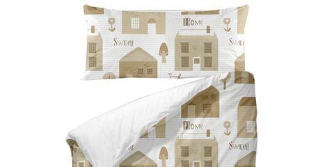 White, House, Home, Beige, Rectangle, Design, Illustration, Square,