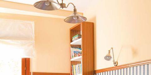 Wood, Room, Lighting, Interior design, Textile, Wall, Floor, Ceiling, Light fixture, Furniture,