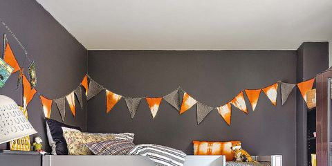 Orange, Room, Interior design, Wall, Pillow, Amber, Home, House, Interior design, Shelving,