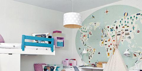 Room, Interior design, Textile, Floor, Pink, Wall, Interior design, Linens, Turquoise, Teal,