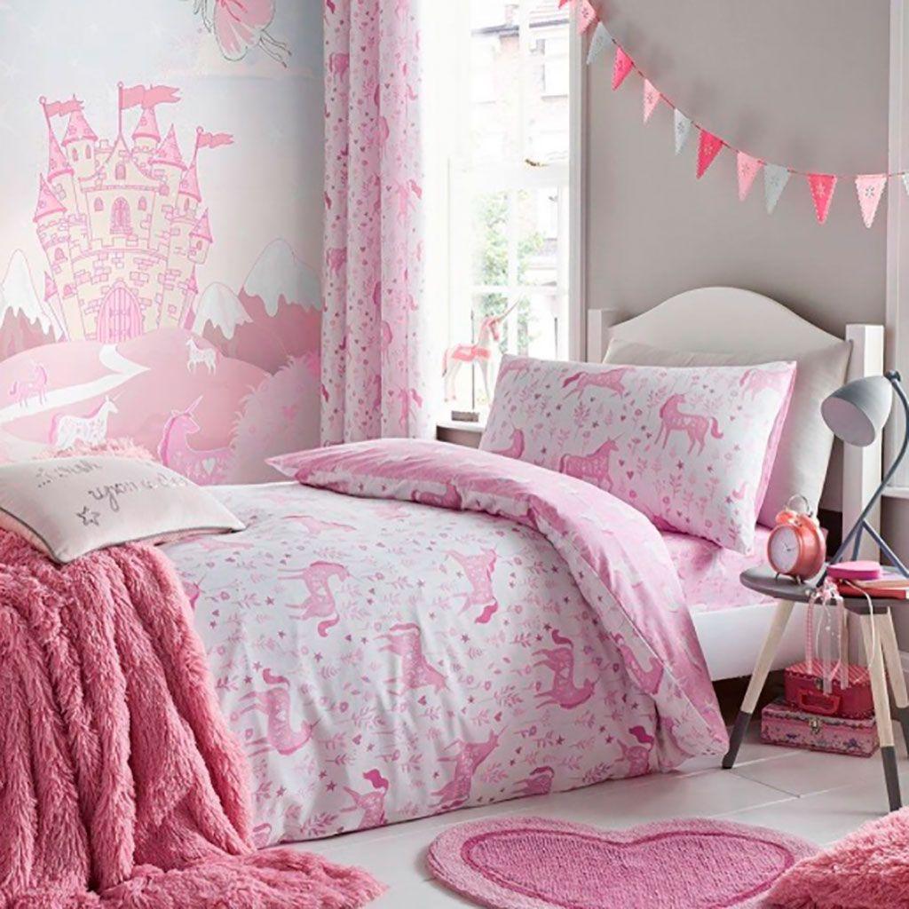 Pon unicornios en su dormitorio!