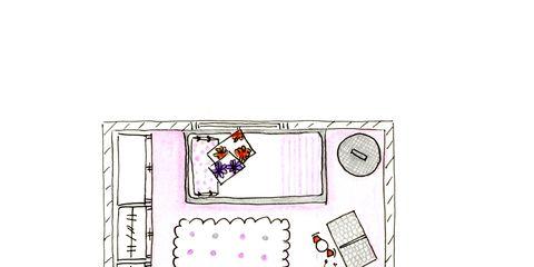 Magenta, Rectangle, Illustration, Square, Drawing, Artwork,