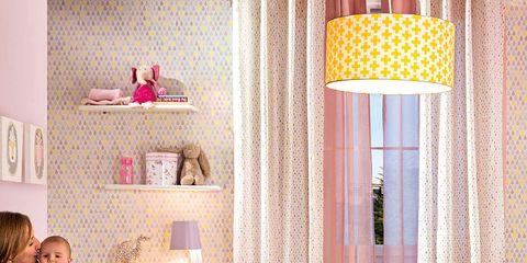 Human, Room, Interior design, Comfort, Textile, Floor, Flooring, Pink, Wall, Interior design,