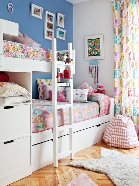 Blue, Room, Interior design, Bed, Bedding, Wall, Textile, Bedroom, Floor, Home,