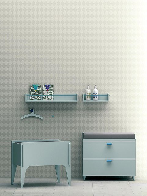 Blue, Room, Wall, Furniture, Drawer, Line, Teal, Turquoise, Aqua, Cabinetry,
