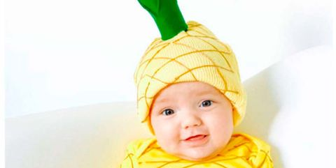 Child, Yellow, Clothing, Toddler, Baby, Costume accessory, Headgear, Costume hat, Costume, Bonnet,