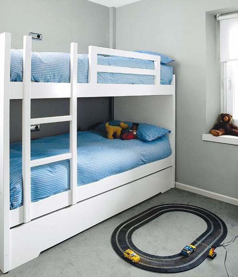 Blue, Product, Room, Bed, Property, Textile, Floor, Bedroom, Bedding, Bunk bed,