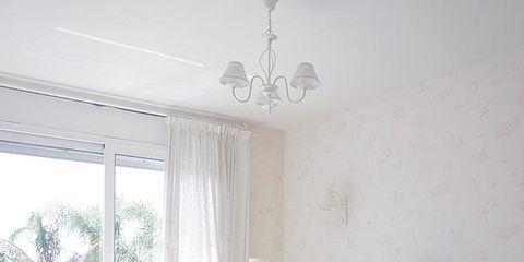 Room, Interior design, Floor, Textile, Furniture, Ceiling, Home, Interior design, Linens, Bed,