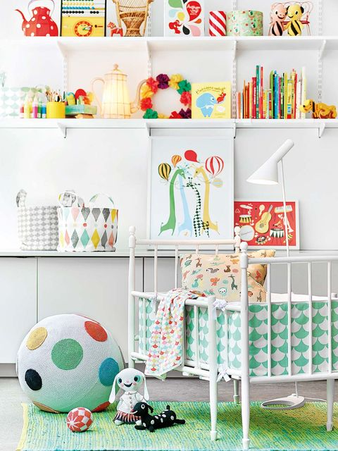 Green, Room, Product, Textile, Shelving, Turquoise, Toy, Shelf, Interior design, Baby toys,